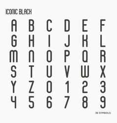 Simple minimalistic font vector