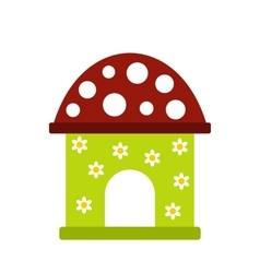 Toy house icon vector