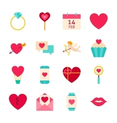 Valentines day love objects vector