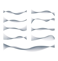 Waved lines design elements set vector