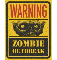 Zombie outbreak hand drawn eps8 vector