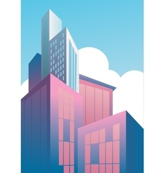 Modern skyscrapers in business district vector