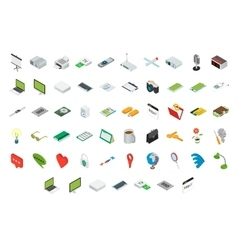 Big set of isometric volumetric icons vector