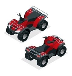 Quad bikes isometric icons set graphic vector