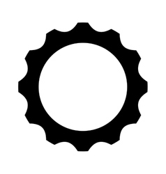 Gears settings flat icon vector