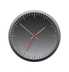 Black wall mechanical clock vector