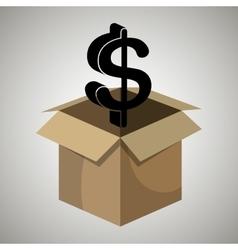 box money dollar vector image
