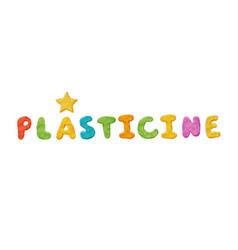 plasticine clay header vector image