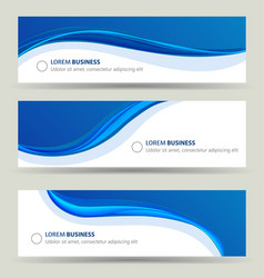 Business banner wave set card brochure cover vector