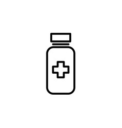 Pills bottle icon on white background vector