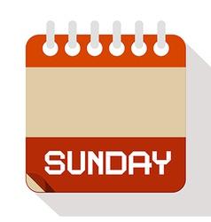 Sunday Paper Calendar vector image