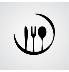 Cutlery black vector