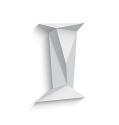 3d letter i on white vector