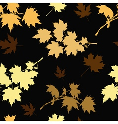 Golden maple vector