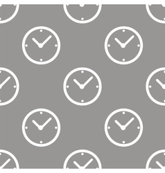 Clock seamless pattern vector