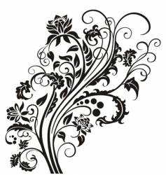 Floral garnish vector