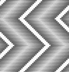 Flat gray with halftone textured chevron vector