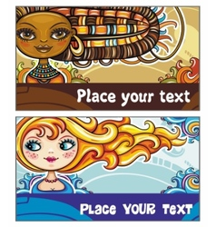 fashion cards 3 vector image