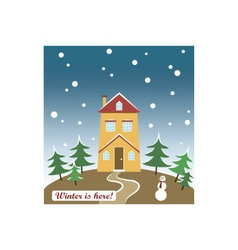 Holidays wishes card vector