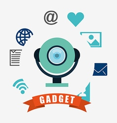 Technology gadget design vector