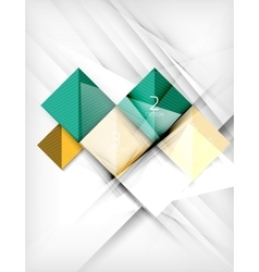 Square abstract background with option elements vector image