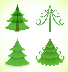 Christmas trees collection vector