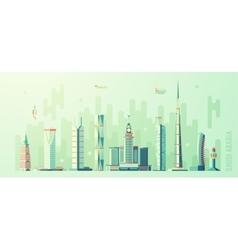 Saudi arabia skyline world tallest building vector