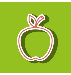 Apple drawing isolated icon design vector