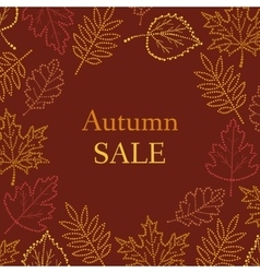 Autumn pattern with the inscription vector