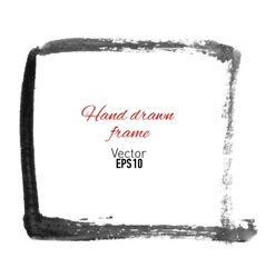 Hand drawn watercolor frame for your design vector