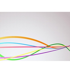 Abstract communicational colorful bright waves vector