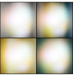Abstract set of multicolored backgrounds defocused vector