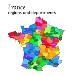 Administrative map of france vector
