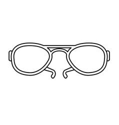 aviator sunglasses icon image vector image
