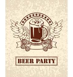 beer and malt vector image vector image