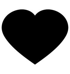 Black Heart Icon vector image vector image