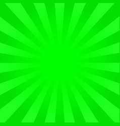 Bright green rays background vector