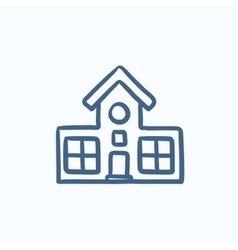 Building sketch icon vector image
