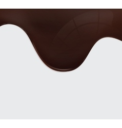 chocolate wave vector image vector image