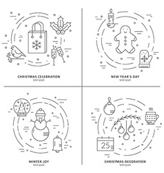 Christmas concept art vector image vector image