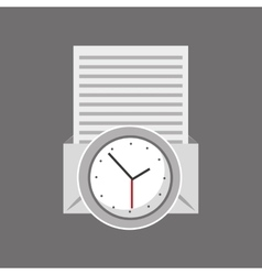 clock time email document icon vector image vector image