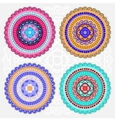 Colored mandalas vector image