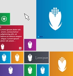 Corn icon sign buttons modern interface website vector