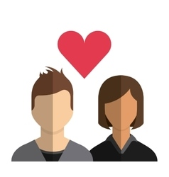 couple with love heart vector image vector image