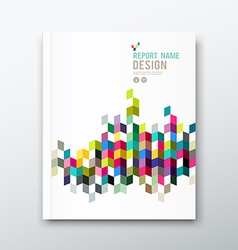 Cover annual report and brochure colorful geometri vector image