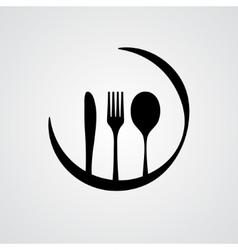 Cutlery black vector image