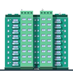 Detailed multi-storey building in flat style vector image