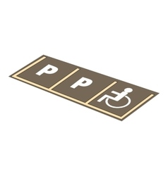 Disabled parking icon cartoon style vector