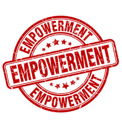 Empowerment red grunge stamp vector