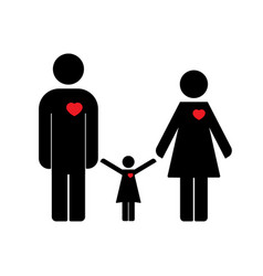 family icon flat design vector image